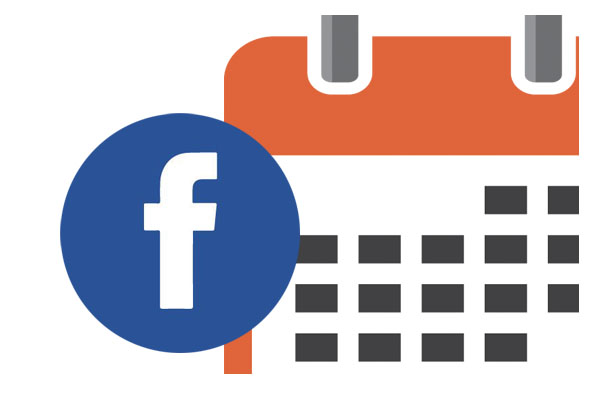 graphic of the facebook logo and a calendar